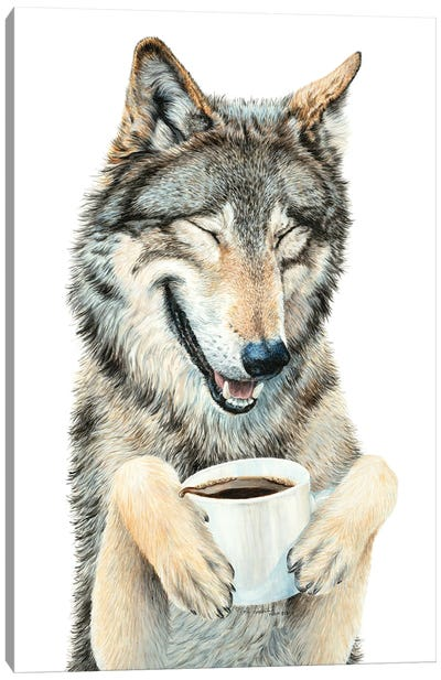 Coffee In The Moonlight Canvas Art Print