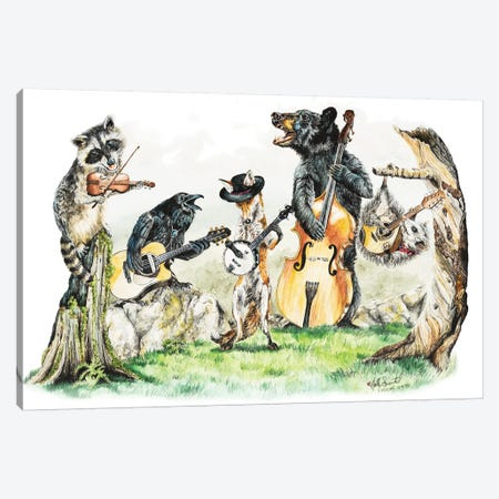 Bluegrass Gang Canvas Print #HSI2} by Holly Simental Canvas Artwork