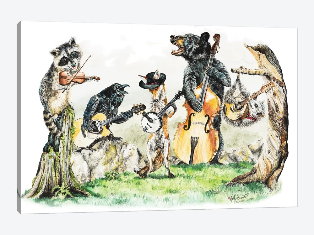 Bluegrass Gang by Holly Simental 1-piece Canvas Wall Art