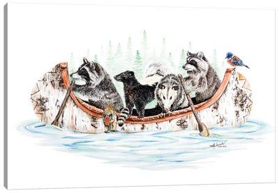 Critter Canoe Canvas Art Print