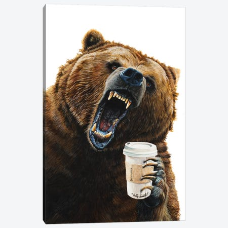 Grizzly Mornings Canvas Print #HSI8} by Holly Simental Canvas Art