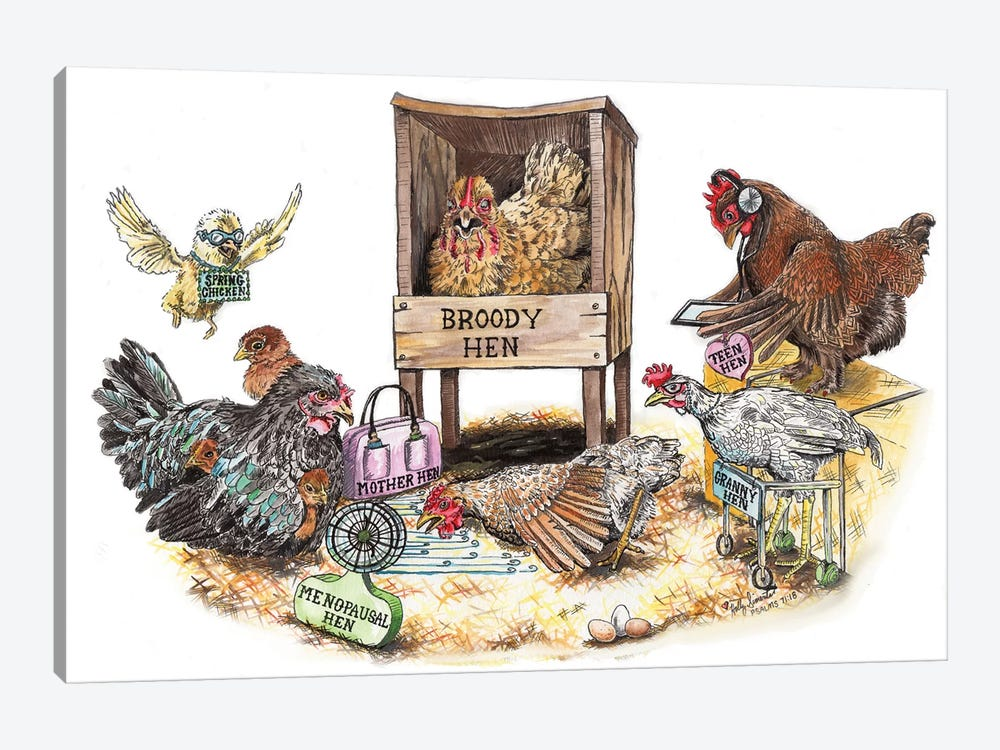 Life In The Coop by Holly Simental 1-piece Art Print