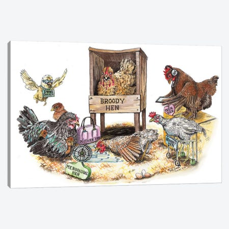 Life In The Coop Canvas Print #HSI9} by Holly Simental Canvas Art