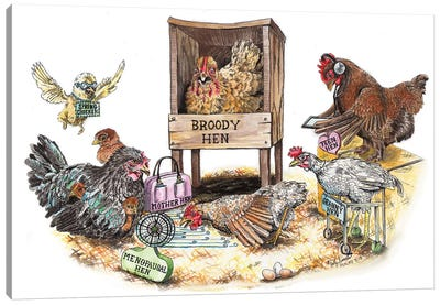 Life In The Coop Canvas Art Print