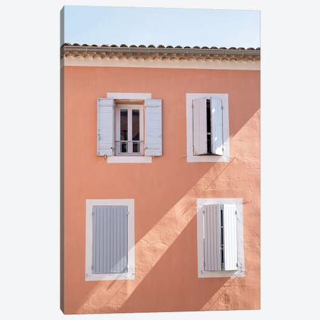 Colorful Building In France Canvas Print #HSK110} by Henrike Schenk Art Print