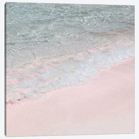 Pink Beach On Crete Island Canvas Print #HSK55} by Henrike Schenk Canvas Wall Art