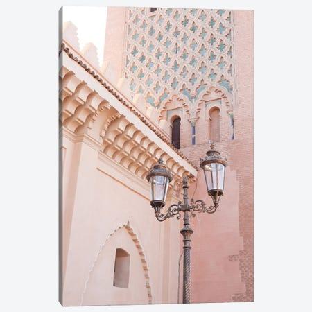 Pink Architecture In Marrakech Canvas Print #HSK56} by Henrike Schenk Canvas Artwork