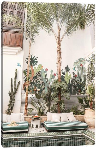 Botanical Riad In Marrakech Canvas Art Print
