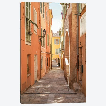 Colorful Street In Menton, France Canvas Print #HSK75} by Henrike Schenk Canvas Art