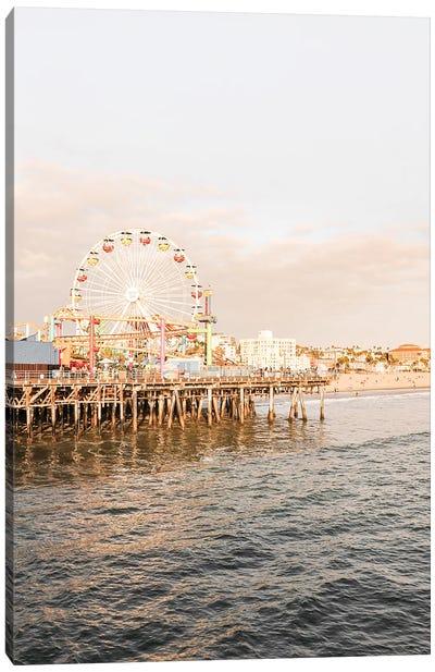 Santa Monica Pier California Canvas Art Print