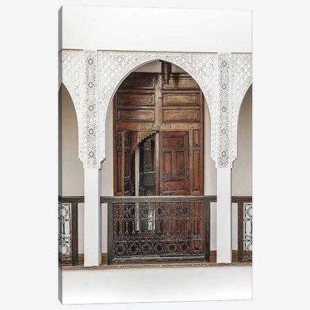 Vintage Wooden Door In Marrakech Canvas Print #HSK98} by Henrike Schenk Art Print