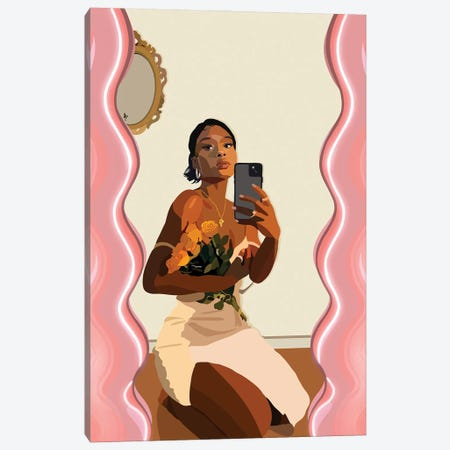Mirror Mirror Canvas Print #HSM103} by Artpce Canvas Artwork