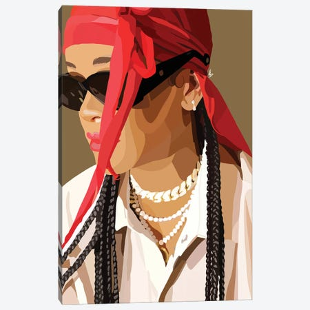 Rihanna Canvas Print #HSM13} by Artpce Canvas Print