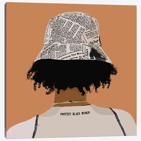 Protect Black Women Canvas Print #HSM14} by Artpce Canvas Art