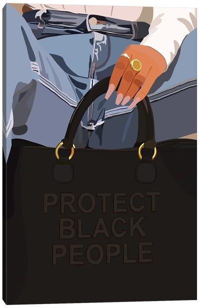 Protect Black People Canvas Art Print