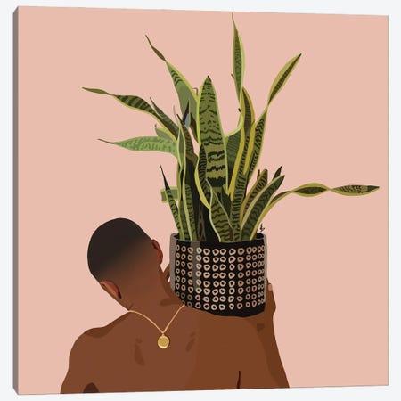 Plant Daddy Snake Plant Canvas Print #HSM18} by Artpce Canvas Art Print