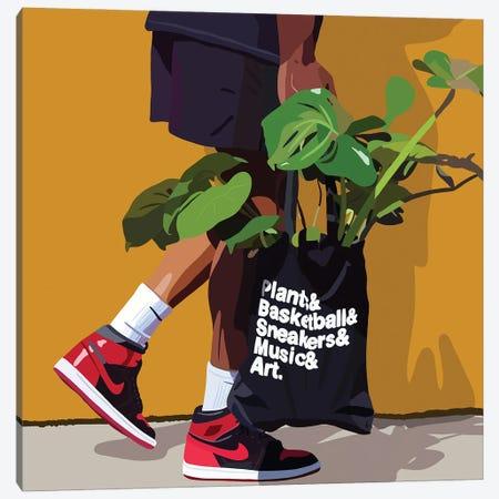 Plant Daddy Nike Canvas Print #HSM19} by Artpce Canvas Print