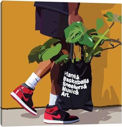 Plant Daddy Nike Canvas Art Print