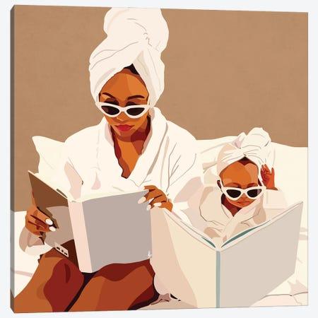 Mommy & Me Canvas Print #HSM27} by Artpce Art Print