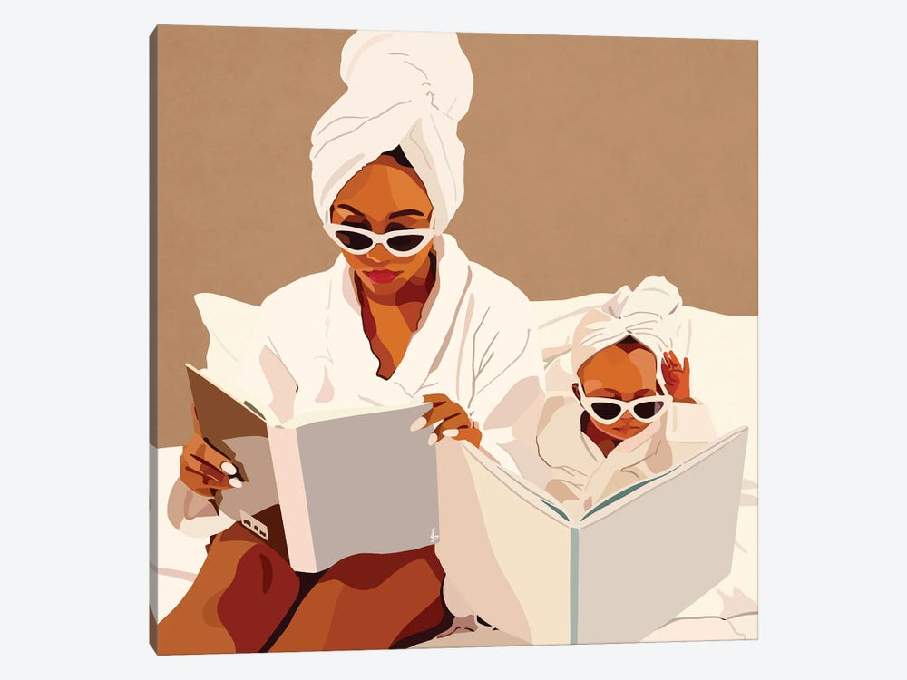 Mommy & Me by Artpce 1-piece Canvas Wall Art