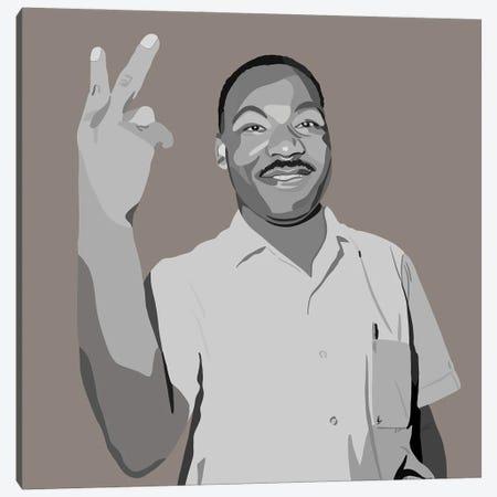 MLK Peace Canvas Print #HSM29} by Artpce Canvas Wall Art