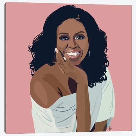 Michelle Obama Canvas Print #HSM30} by Artpce Canvas Art Print