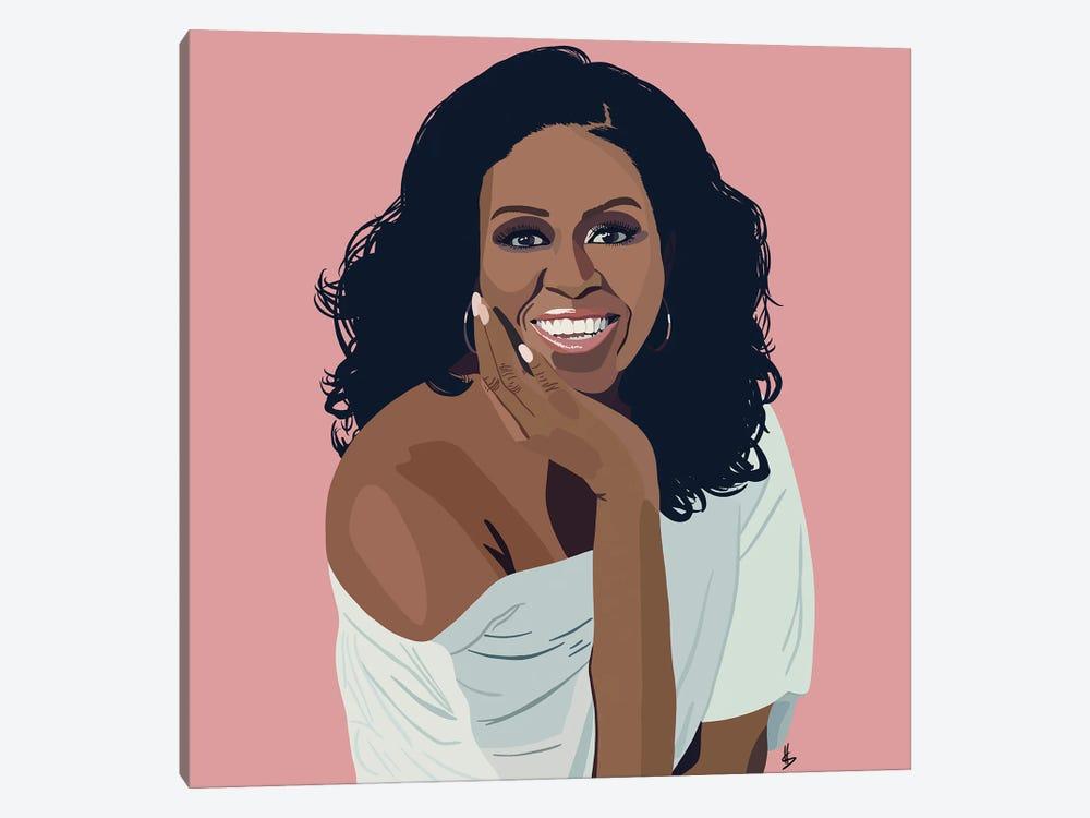 Michelle Obama by Artpce 1-piece Canvas Wall Art