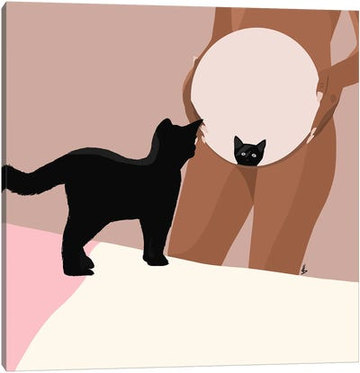 Kitty Cat Canvas Art Print
