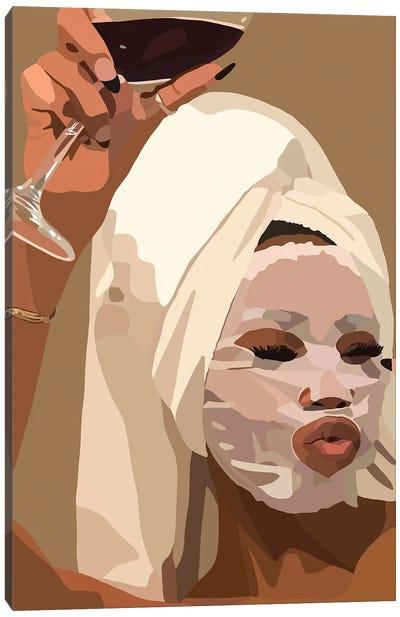 Face Mask Canvas Art Print
