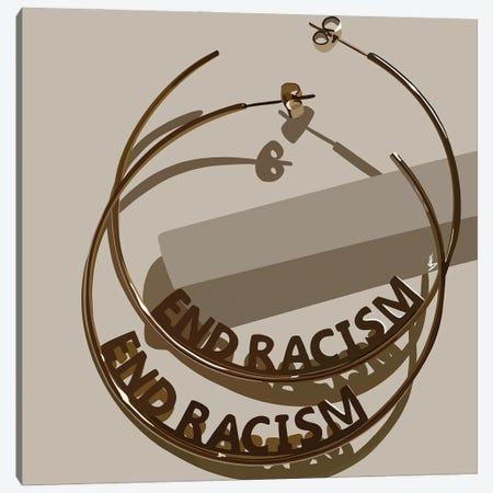 End Racism Canvas Print #HSM48} by Artpce Canvas Art