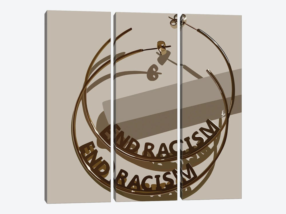 End Racism by Artpce 3-piece Canvas Print