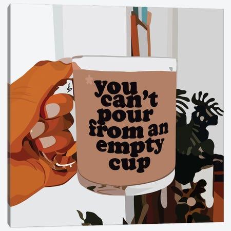 Empty Cup Canvas Print #HSM49} by Artpce Canvas Artwork