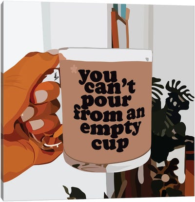 Empty Cup Canvas Art Print