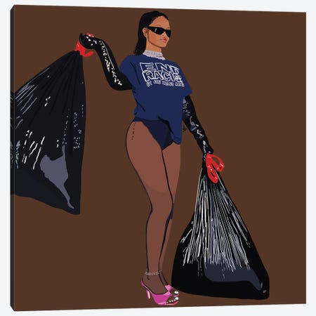 Take Out The Trash Canvas Print #HSM4} by Artpce Canvas Art Print