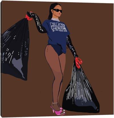 Take Out The Trash Canvas Art Print