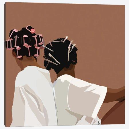Curl Friend Canvas Print #HSM52} by Artpce Canvas Print