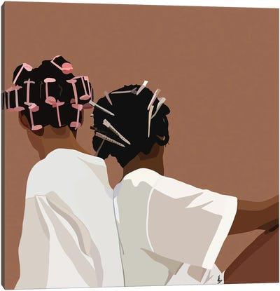 Curl Friend Canvas Art Print