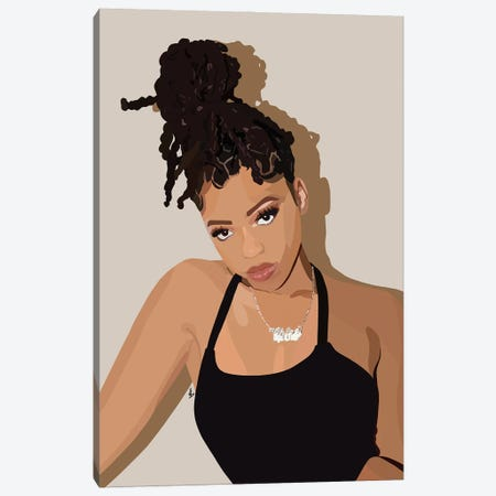 Chloe Canvas Print #HSM55} by Artpce Canvas Wall Art