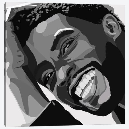 Chadwick Boseman Canvas Print #HSM57} by Artpce Canvas Wall Art