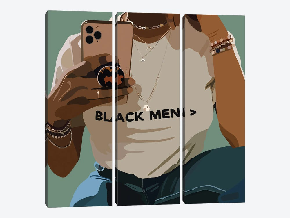 Black Men by Artpce 3-piece Canvas Print