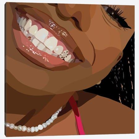 Say Cheese Canvas Print #HSM71} by Artpce Canvas Print