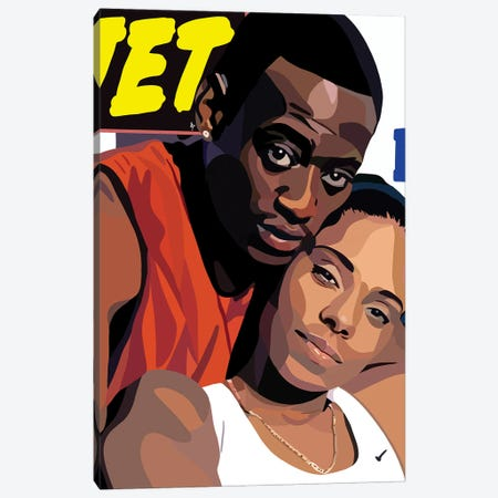 Love And Basketball Canvas Print #HSM74} by Artpce Canvas Wall Art