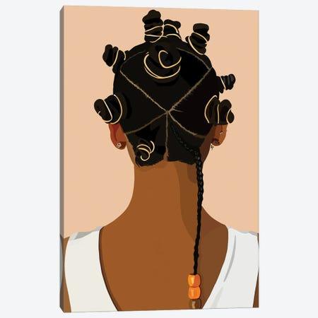 Bantu Knot Canvas Print #HSM78} by Artpce Canvas Print