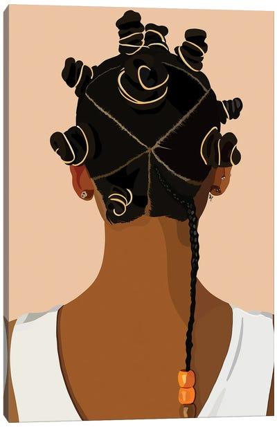 Bantu Knot Canvas Art Print