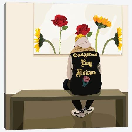 Buy Flowers Canvas Print #HSM79} by Artpce Canvas Print