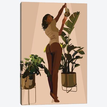 Grow Girl Canvas Print #HSM86} by Artpce Art Print
