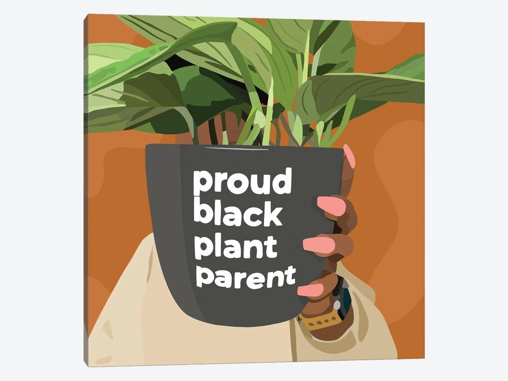 Black Plant Parent by Artpce 1-piece Canvas Artwork