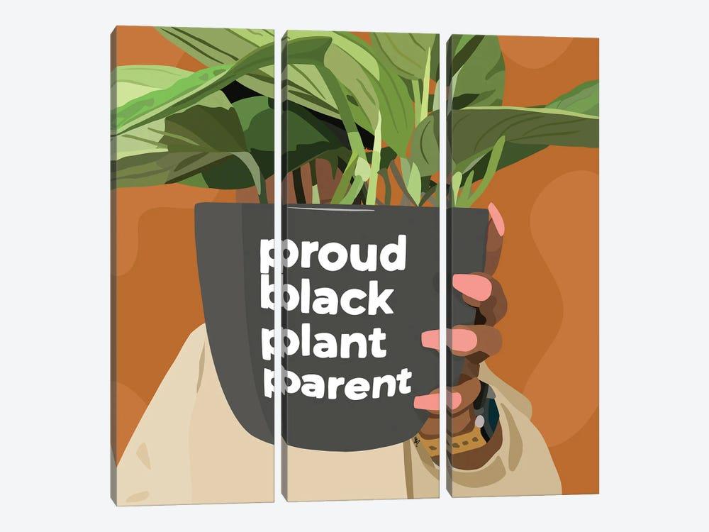 Black Plant Parent by Artpce 3-piece Canvas Artwork