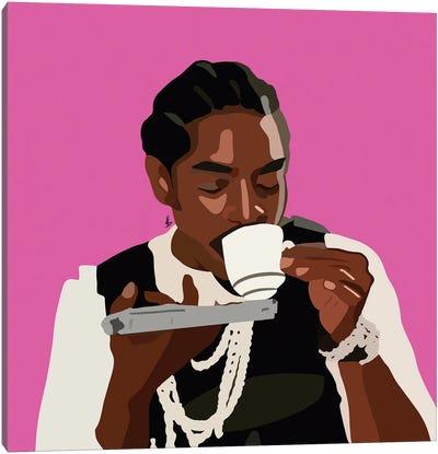 Sips Tea Canvas Art Print