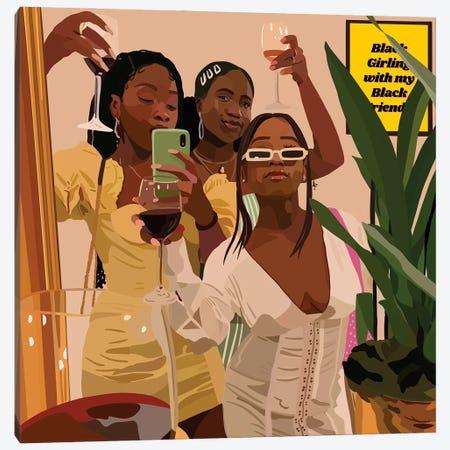 Black Girling Canvas Print #HSM93} by Artpce Canvas Art Print